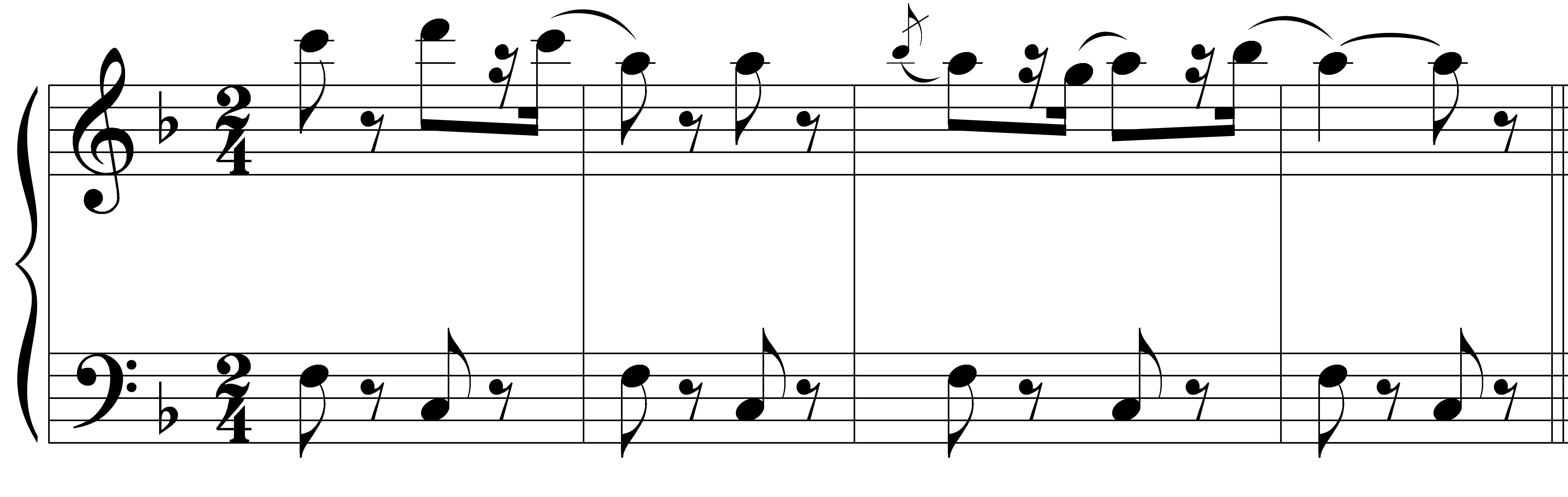 "Image of first violin and cello parts of ""Toreador Song"" from Bizet's Carmen"